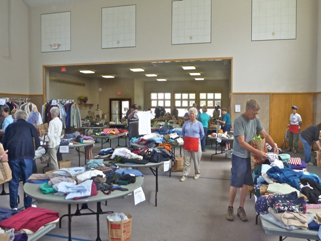 Rummage sale held at our Presbyterian Friendship Center.