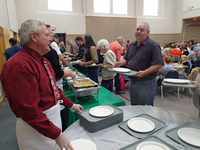 Fellowship and food in the Presbyterian Friendship Center.